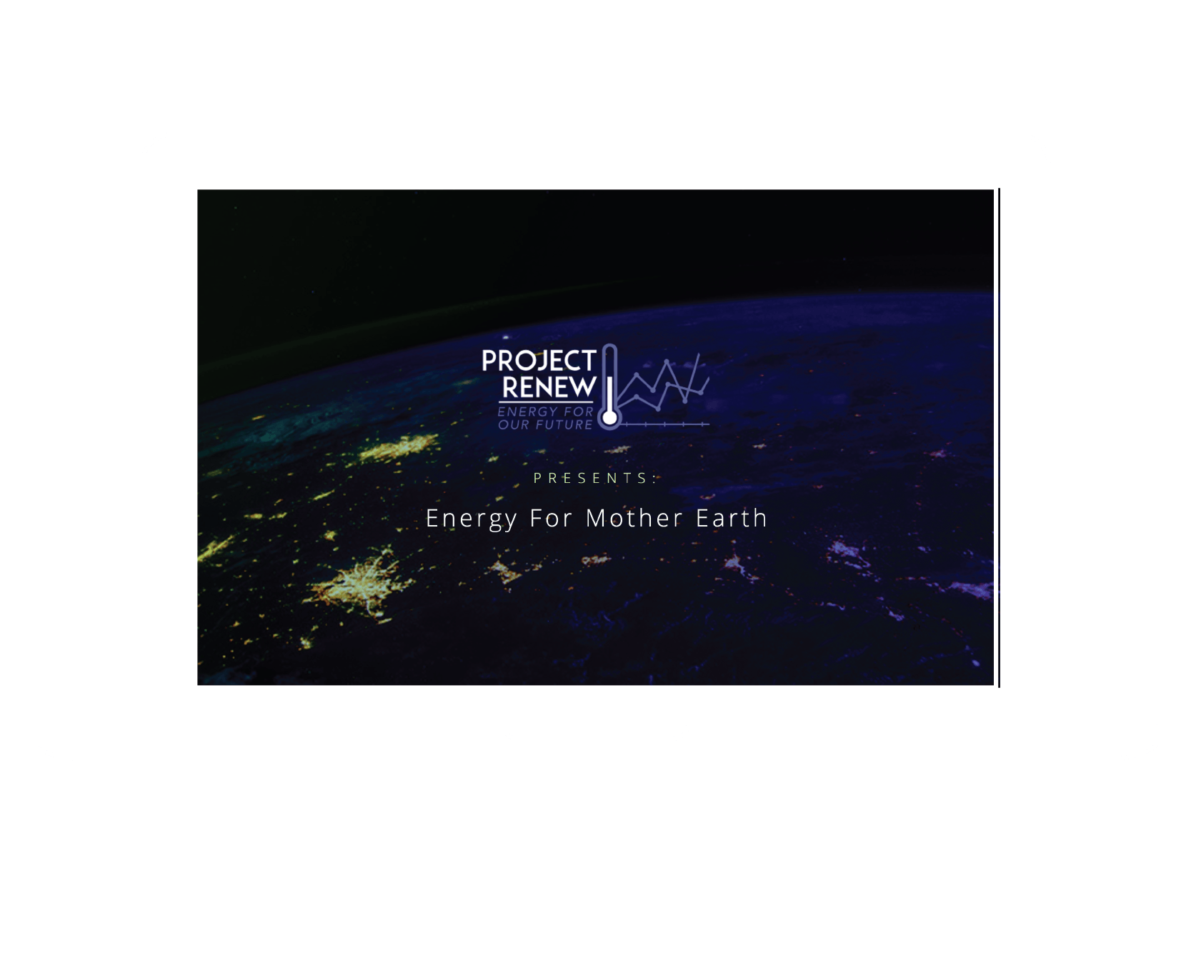Project Renew, an informative website about renewal energy sources, built using chart.js and the World Bank API.